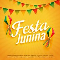 elegante festa junina cartaz feriado saudação