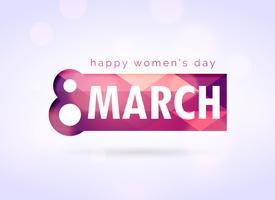 Fondo de diseño de saludo de feliz mujer feliz día