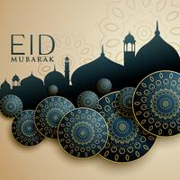 Diseño islámico para el festival eid mubarak.