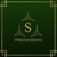 Letra S monograma logo concepto en estilo elegante