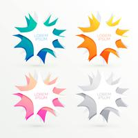 colorful abstract banners with text space