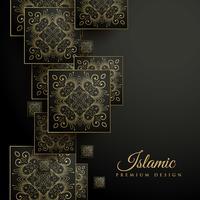 prime fond islamique avec motif floral mandala carré