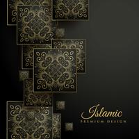 premium islamisk bakgrund med blommigt kvadratmandala mönster