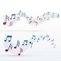 notas de música fundo colorido