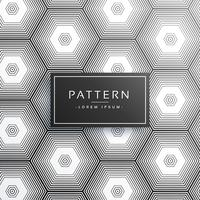 línea abstracta hexagonal patrón de fondo