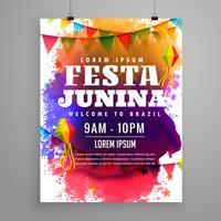 diseño de plantilla de volante de invitación de fiesta junina