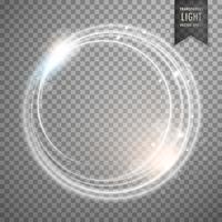 transparant terwijl lichteffect vectorontwerp