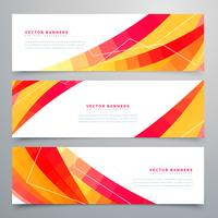 awesome set of colorful abstract banners design