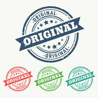 Carimbo de borracha original definido no estilo grungy