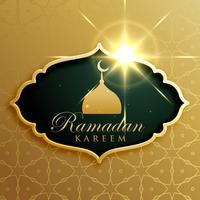 Ramadan Kareem Festival saludo diseño en estilo premium