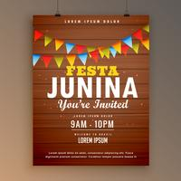festa junina party invitation poster flyer design