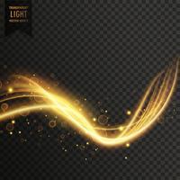 vetor de efeito de luz dourada transparente