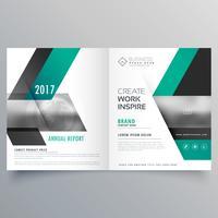Revista de portada de la empresa Diseño de folleto de revista para su marca.