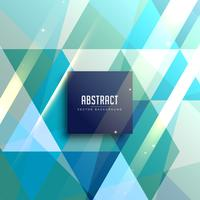 blue geometric triangles abstract background