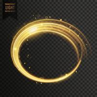 efecto de luz de remolino de oro blanco