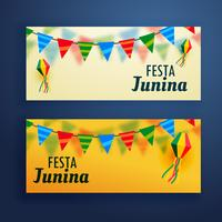 festa junina banner set di due
