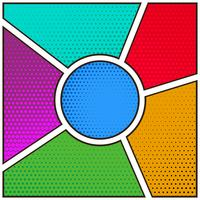 comic book page empty template background with halftone