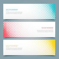 halftone banners and headers set design