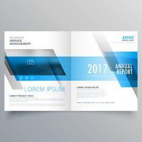 Business-Magazin Cover-Layout mit blauen Formen für Sie