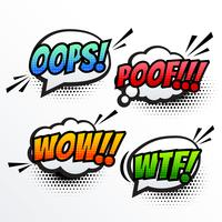 comic text sound effect pop art vector