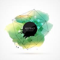 abstrakter Aquarellfleck mit Maschendraht
