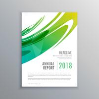 annual report business brochure made with abstract green shape