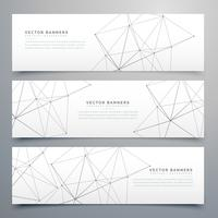 digital technology style vector headers set