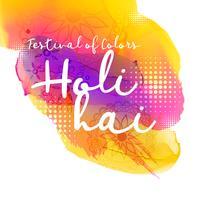 vacker indisk holi festival design