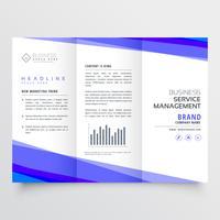 modern trifold broschyrdesign med affärsinformation