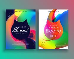 creative vibrant music flyer poster template design