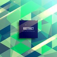 design de fond géométrique abstrait vert et bleu