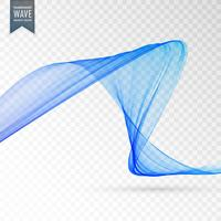 blue wave transparent effect background