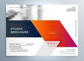 abstract business brochure presentation leaflet design template