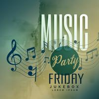 music party festival event poster design background