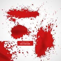 Resumen de tinta roja salpicadura textura de fondo