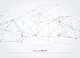 wireframe digital de malha de fundo vector em rede de tecnologia s