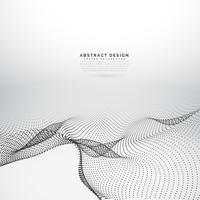 Fondo abstracto 3d partículas onduladas