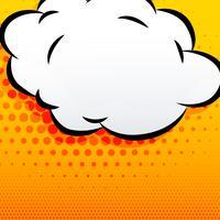 fundo de estilo cômico de nuvem de desenho animado