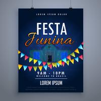 festa junina holiday flyer poster design template