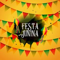 festa junina background with colorful garlands