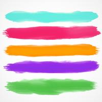 five brushes set of watercolor stain