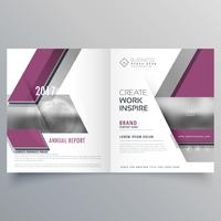 bi fold business brochure design modelo folheto capa de revista