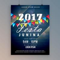 Modèle de conception de flyer 2017 festa junina