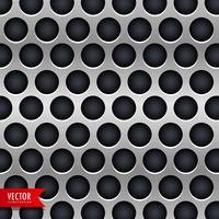 Fondo de vector de textura de cromo metálico con círculos oscuros