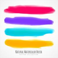 real hand painted watercolor brush troke set