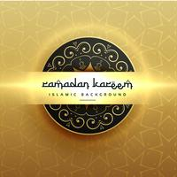 diseño de saludo de Ramadan Kareem de lujo hermoso