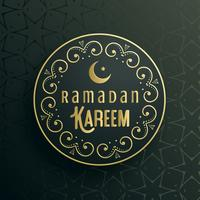 creative ramadan kareem greeting card vector design