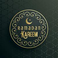 diseño de vector de tarjeta de felicitación de ramadan kareem creativo