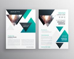 Diseño de plantilla de folleto de negocio moderno con triángulo shap