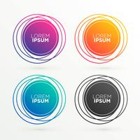 formas de banner circular na moda com espaço para seu texto